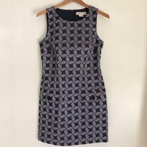 Michael Kors Geometric Print Sleeveless Dress
